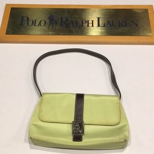 Ralph Lauren lime green clutch with strap